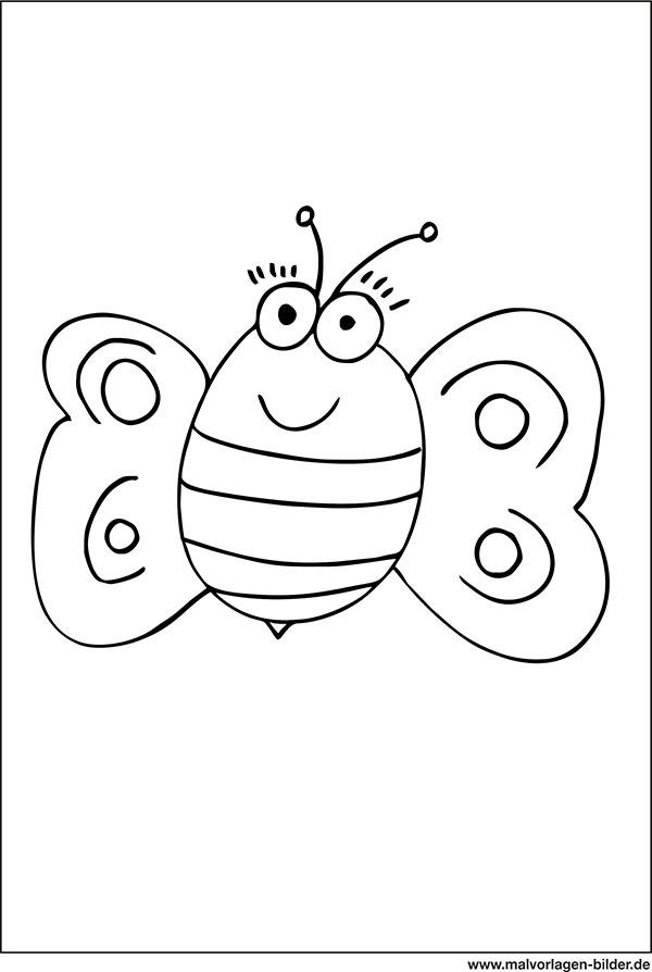 Biene Ausmalbild Fr Kinder Ab 3 Jahren