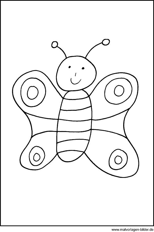 Schmetterling - Kostenlose Ausmalbild zum Ausdrucken