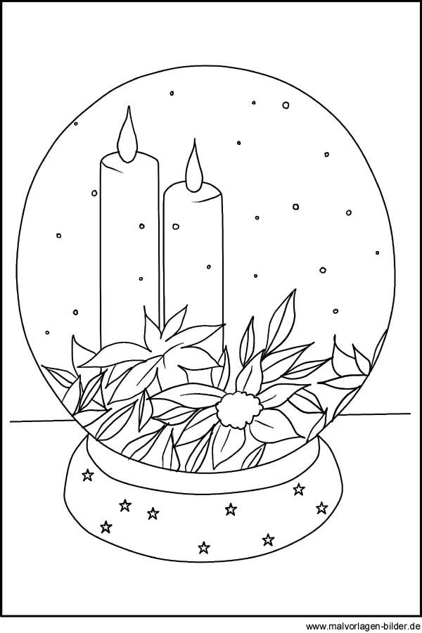 Kerze Malvorlage Und Ausmalbild Zum Ausdrucken
