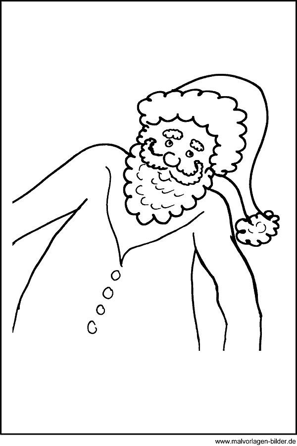 Malvorlagen und Ausmalbilder vom Weihnachtsmann - Window
