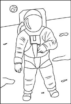Weltraum - Malvorlagen Ausmalbilder