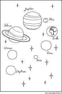 25 Schn Planeten Und Sterne Ausmalbilder