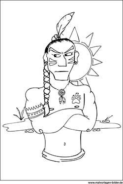 Cowboys und Indianer - Malvorlagen Ausmalbilder