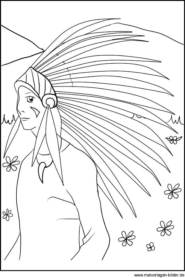Ausmalbilder Winnetou Gratis Kinder Ausmalbilder