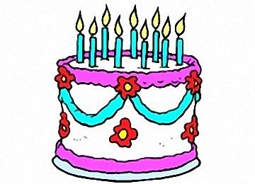 Malvorlagen Geburtstagstorte
