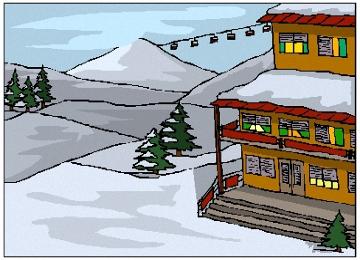 Kostenlose Malvorlagen Winterlandschaft
