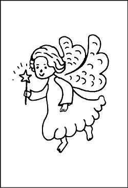 Malvorlagen Engel - Window Color als Weinachtsengel zum