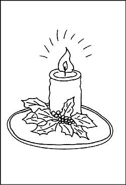 Malvorlagen von Kerzen - Ausmalbilder und Window Color zu