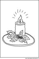 Malvorlage Kerze   Kostenloses Kerzenmotiv zum Ausdrucken ...
