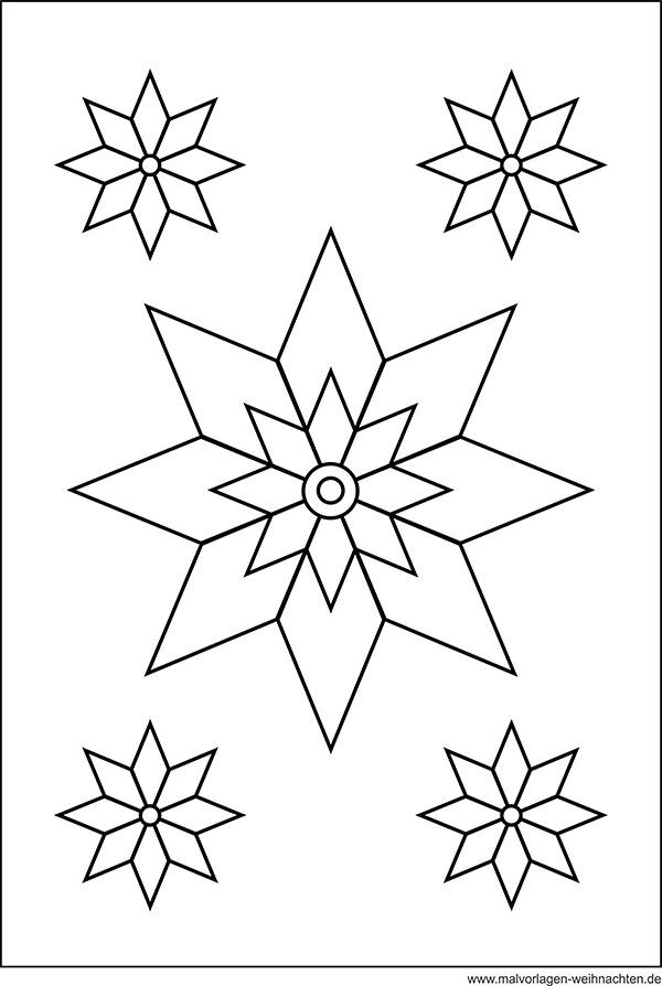 Stern - Window Color Bild - Weihnachtsstern als Malvorlage