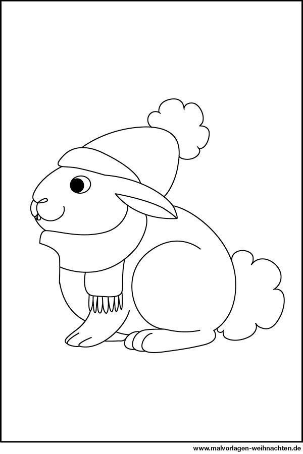 Schneemann mit hasen malvorlagen ausdrucken Coloring and
