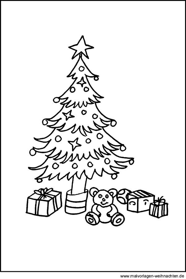 Window Color Bild Weihnachtsbaum - Kostenlose
