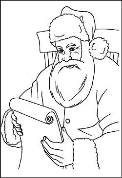 Weihnachtsmann und Nikolaus - Malvorlagen Ausmalbilder