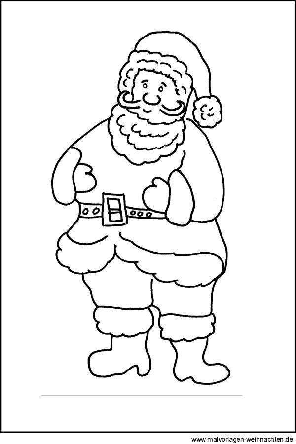 Malvorlagen vom Weihnachtsmann - Ausmalbilder zu Weihnachten