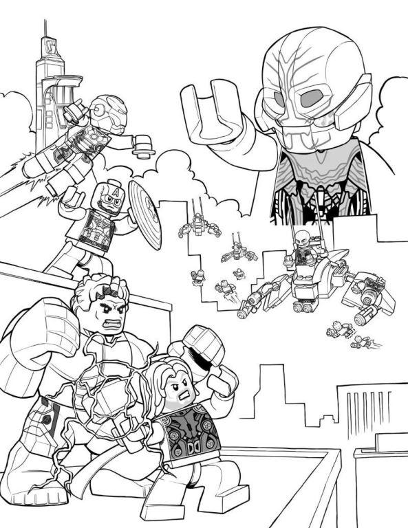 Lego avengers Malvorlagen - Malvorlagen1001