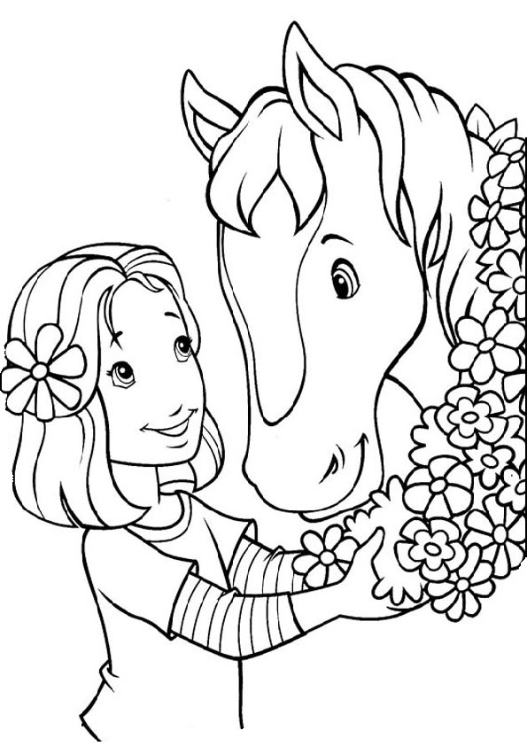 Pferde-24 Malvorlagen Gratis