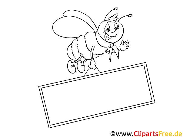 Kostenlose Ausmalbilder zum Ausdrucken Biene