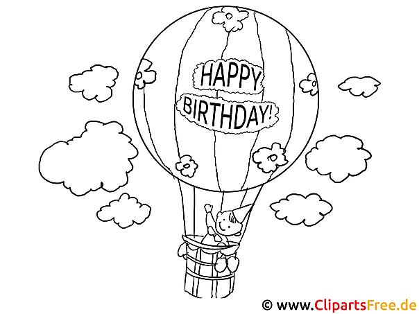 Luftballon Ausmalbilder fuer Schule