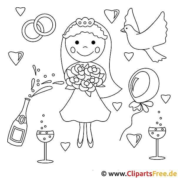 Hochzeit Malvorlage