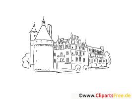 Burg Schloss Reisen Ausmalbilder