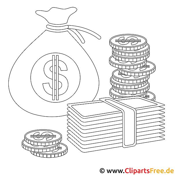 Mensch Mit Geld Bild Zum Ausmalen Malvorlage