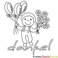 Kinder Malvorlagen zum Drucken   Junge mit Luftballons
