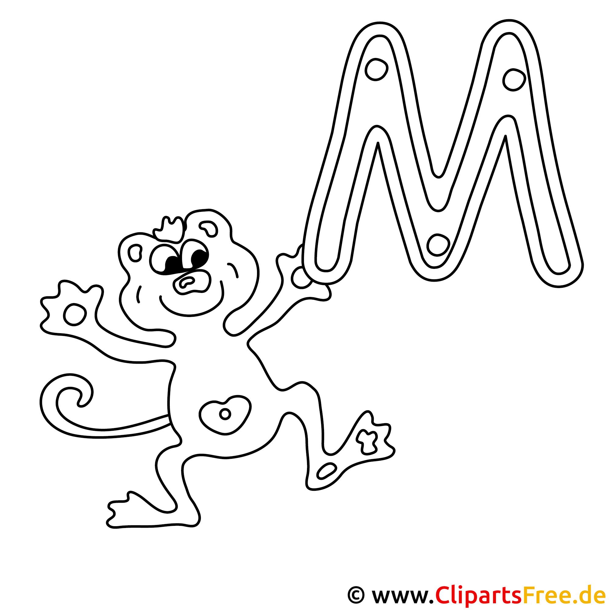 Monkey - Buchstaben Vorlagen