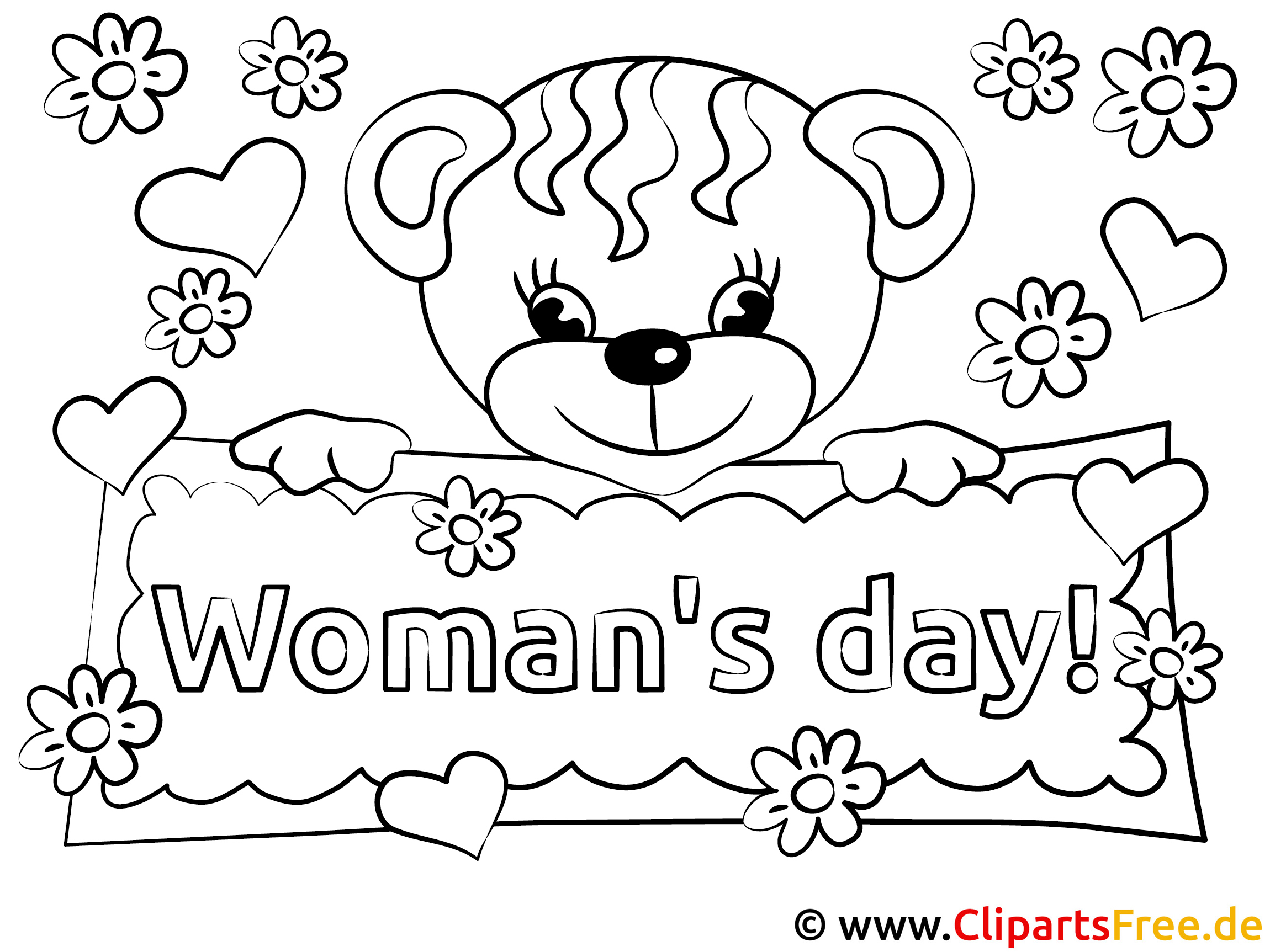 Womans Day Coloring Sheet free