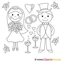 Hochzeits Ausmalbilder gratis