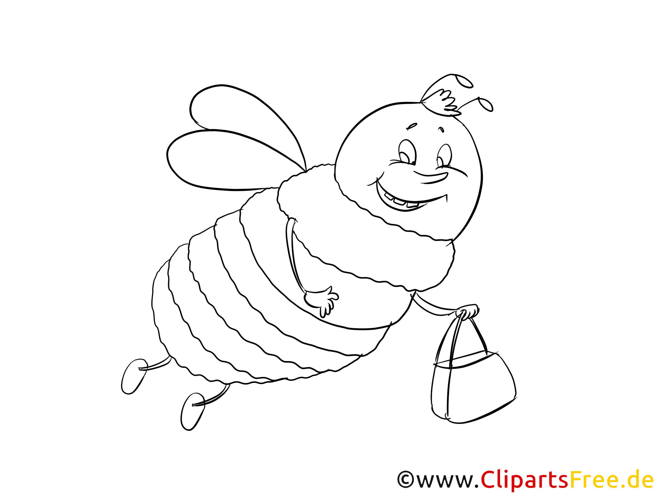 Grosse Biene Malvorlage