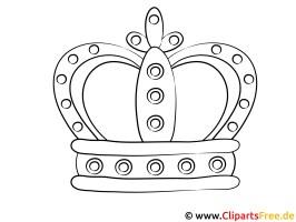 Malbild Krone zum Ausdrucken und Ausmalen