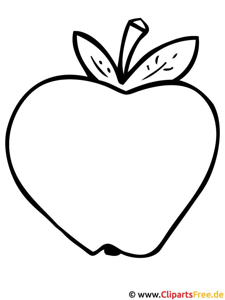 Apfel Malvorlage gratis