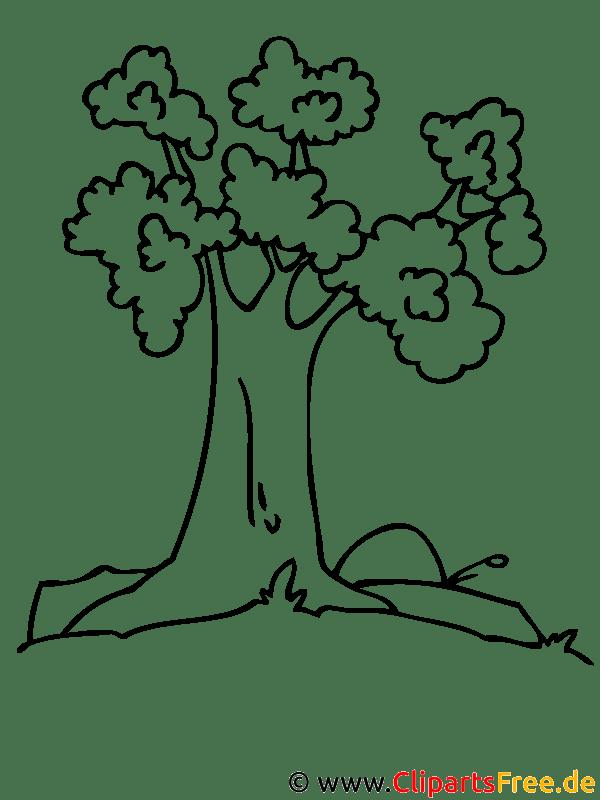 Baum Fensterbild gratis
