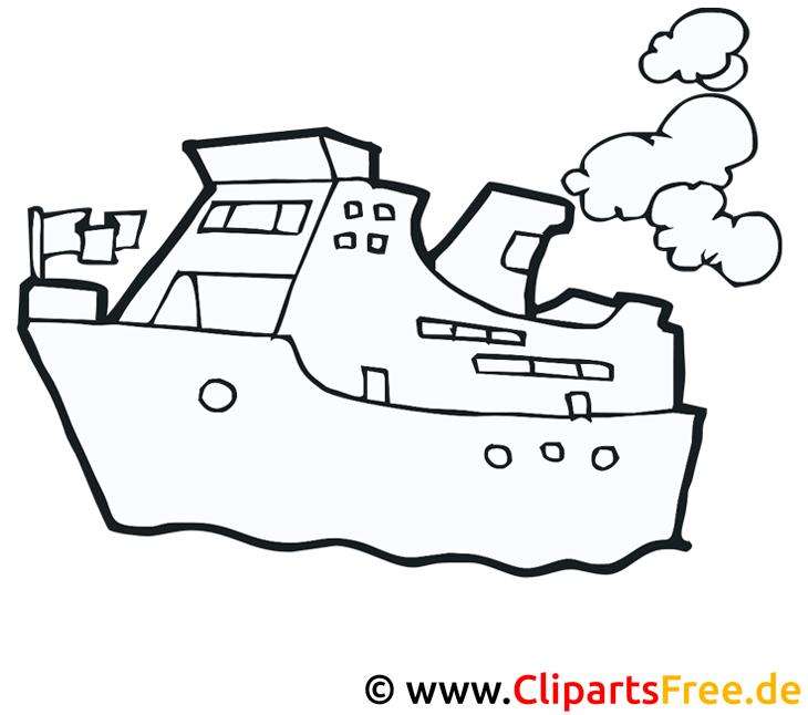 Schiff Malvorlage für Kinder kostenlos