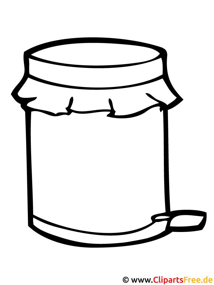 Malschablonen für Kinder - Mülleimer