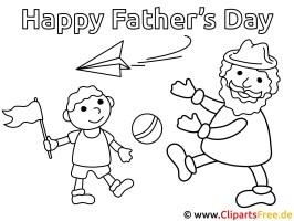 Malvorlage zum Vatertag   Ausmalbilder für Kinder