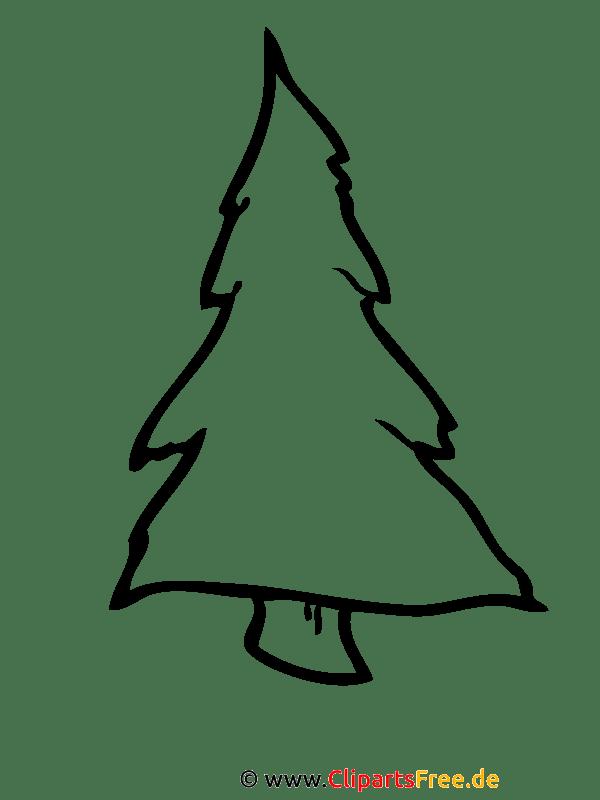 Tannenbaum Malvorlage - Malvorlagen zu Weihnachten gratis