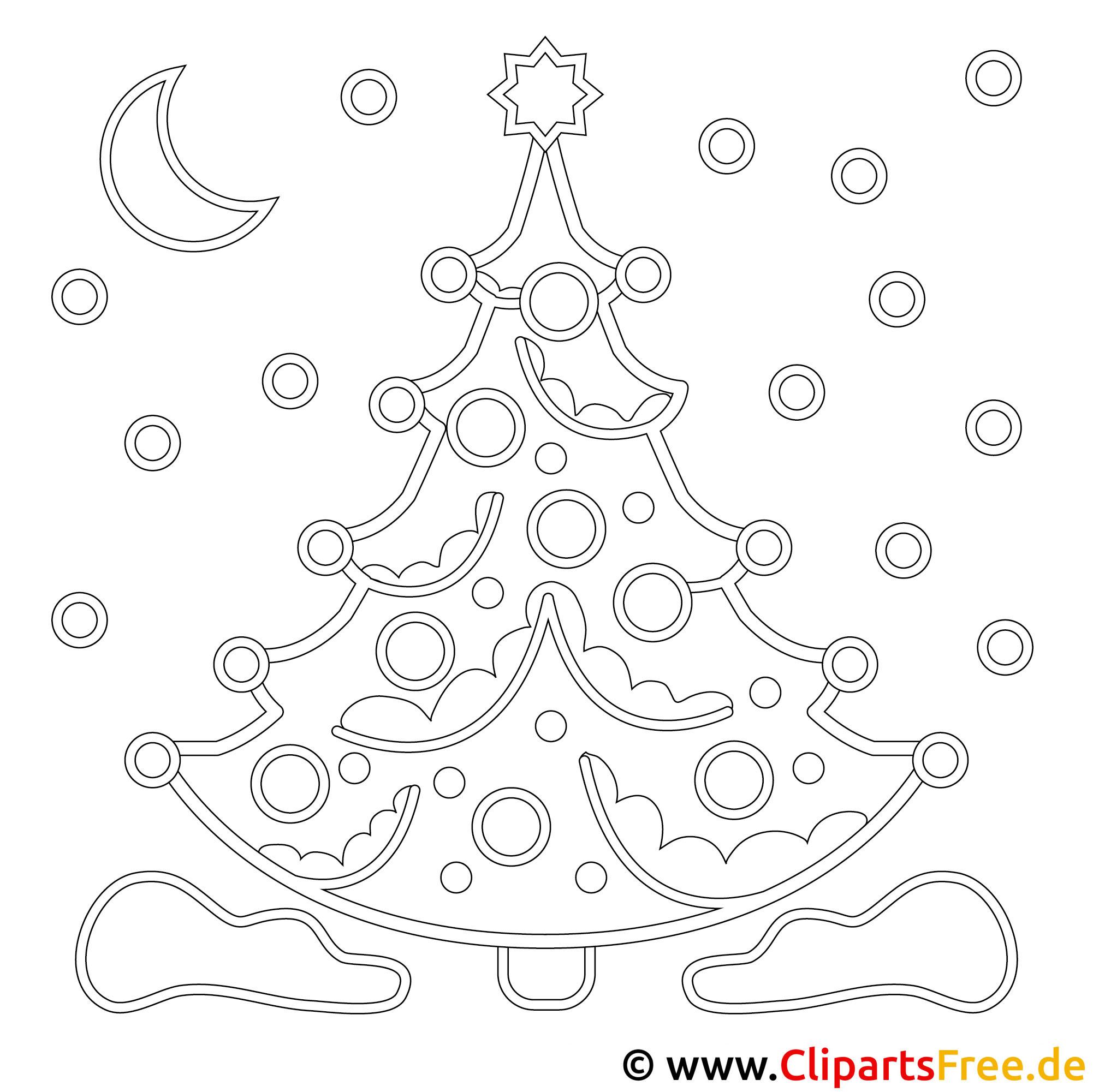 Weihnachtsbaum Bild Malvorlage Ausmalbild kostenlos