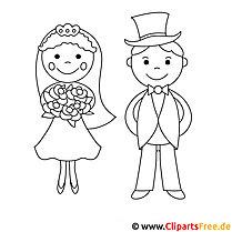 Malvorlage Brautpaar Kostenlos
