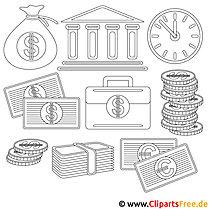 Geldschein Malvorlage