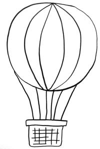 Heissluftballon Malen Vorlage