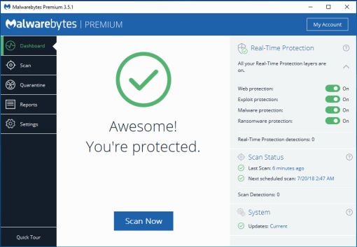 Image result for malwarebytes premium3.8
