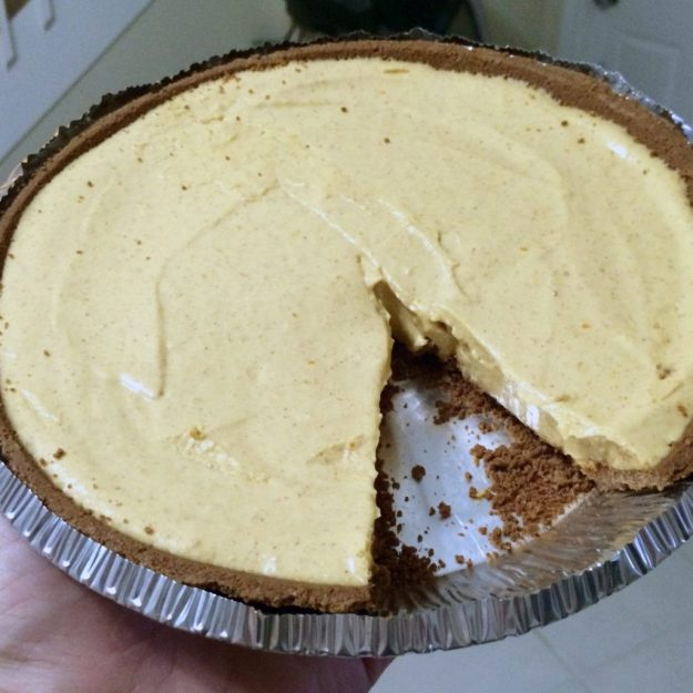no bake pumpkin protein cheesecake