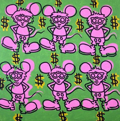 K. Haring, Andy Mouse (1985)