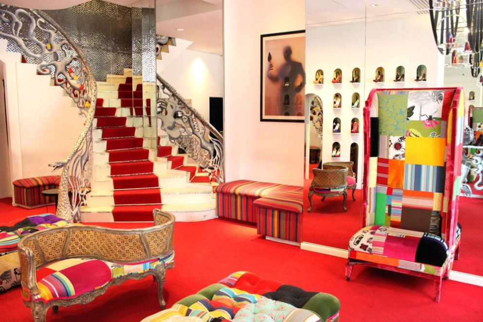 Mame Fashion Dictionary: Christian Louboutin. Flagship Store in Paris.