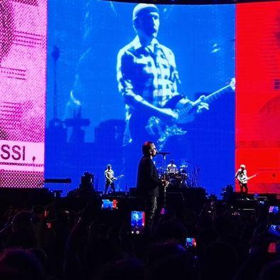 musica: U2 a Roma i video e le immagini più belle di domenica the edge
