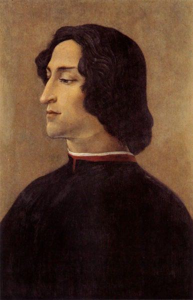 Mame arte SANDRO BOTTICELLI: DUE STORIE AL FEMMINILE Sandro Botticelli, Ritratto di Giuliano de' Medici,