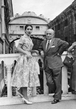 Maria Callas: una donna, una voce, una leggenda. Una foto insieme al marito Giovanni Battista Meneghini