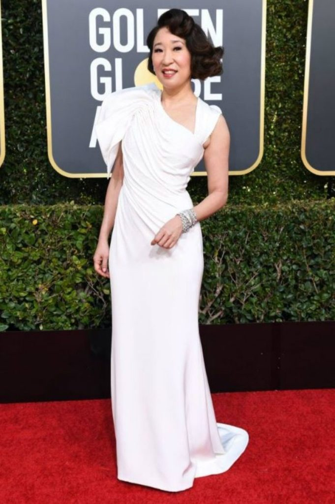 Golden Globe 2019, i look del red carpert. sandra oh