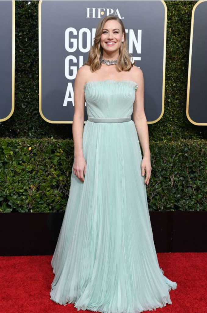 Golden Globe 2019, i look del red carpert. yvonne Strahovski